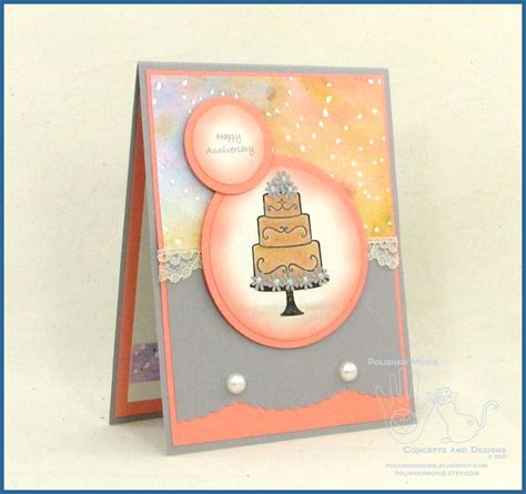 Handcrafted Wedding - handmade wedding anniversary card happy