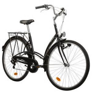 elops 300 city bike black town bikes