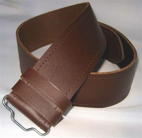 kilt belt plain brown leather size xx lge 46 quot 50