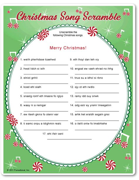 printable unscramble christmas games printable christmas song scramble funsational com