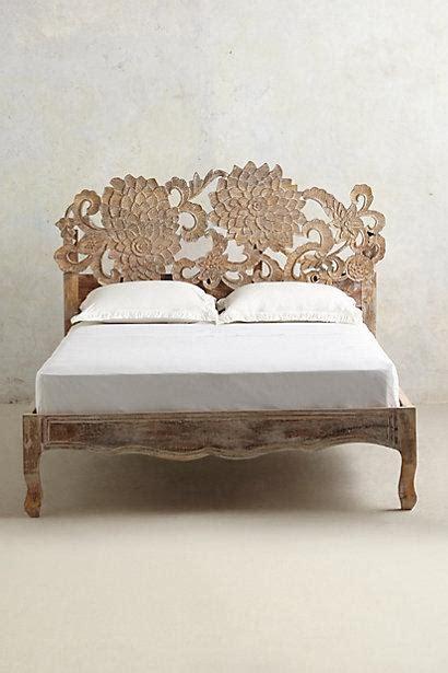 anthropologie beds handcarved lotus bed i anthropologie com