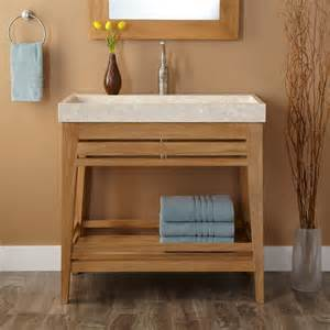 trough bathroom sink and vanity 36 quot aurelia teak trough sink vanity teak bathroom