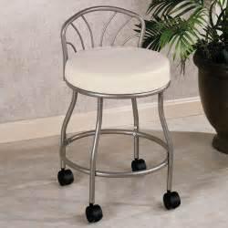 White Metal Vanity Chair Furniture Appealing Ergonomic Bedroom Vanity Chair For
