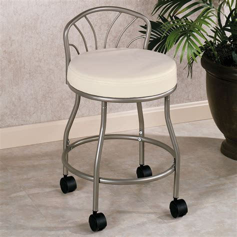 vanity chair for bathroom with wheels bathroom vanity chair with wheels bathroom design ideas