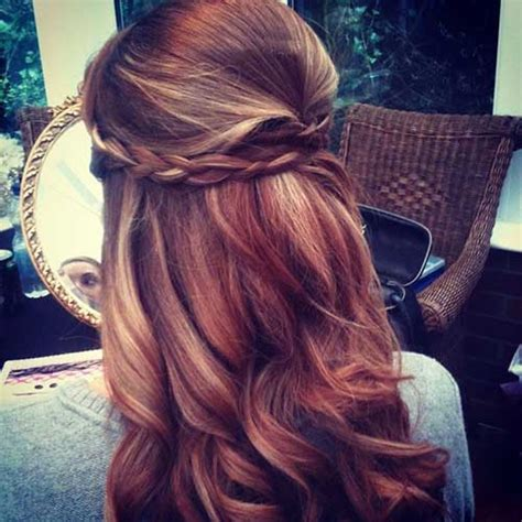 wedding hairstyles half up half down plaits 30 best half up curly hairstyles hairstyles haircuts