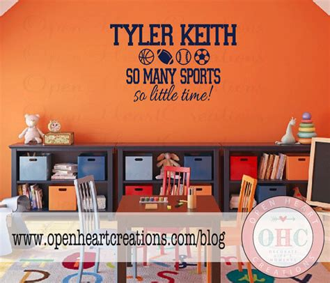 Sports Wall Decals For Nursery Sports Wall Decal For Playroom Nursery Or Bedroom Name With