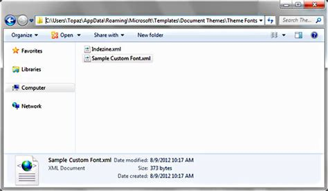 custom themes powerpoint 2010 sharing editing and deleting custom theme fonts in