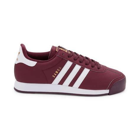 mens adidas samoa athletic shoe red