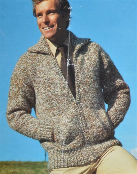 knitting pattern zippered cardigan men s zip up cardigan bomber jacket vintage knitting