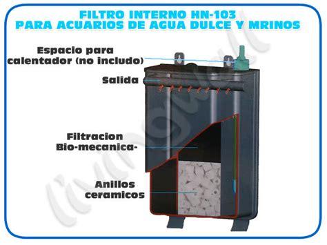 filtro interior acuario filtro acuario mochila hn 103 filtracion interna