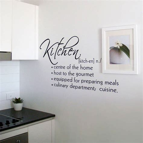 kitchen design quotes kitchen vinyl lettering quotes quotesgram