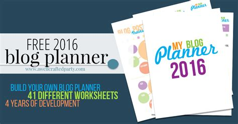 Free Blog Planner Printable 2016 | free printable blog planner 2016 edition a well crafted