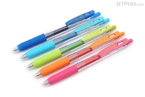 Zebra Gel Pen Sarasa Clip 0 7 zebra sarasa push clip gel pen 0 7 mm 5 color set
