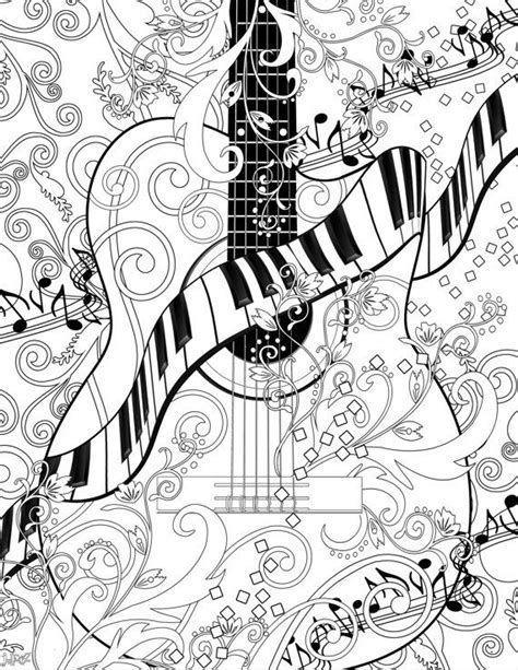 guitar coloring pages for adults 272 best designs and coloring pages images on pinterest