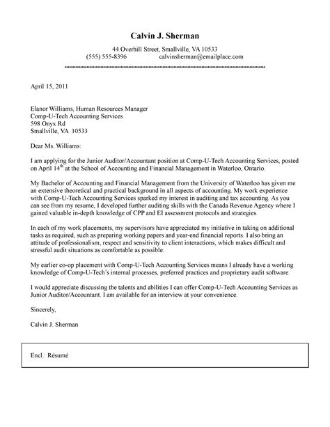 cover letter template for accounting position application letter sle cover letter sle for