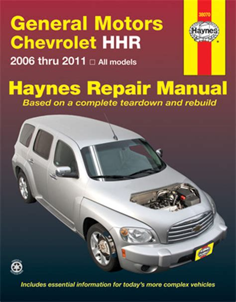 chevrolet hhr haynes repair manual 2006 2011 hay38070