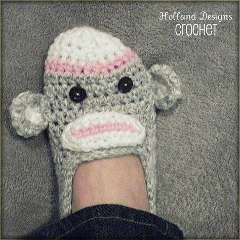 crochet monkey slippers crochet sock monkey slippers pattern crochet patterns
