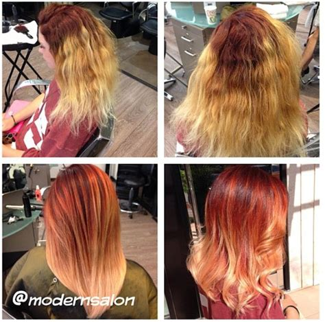 color melt hair technique how to color melting and ombre formula and steps career