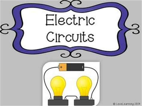 make a model of electric circuit electric circuits powerpoint lesson guided notes lab