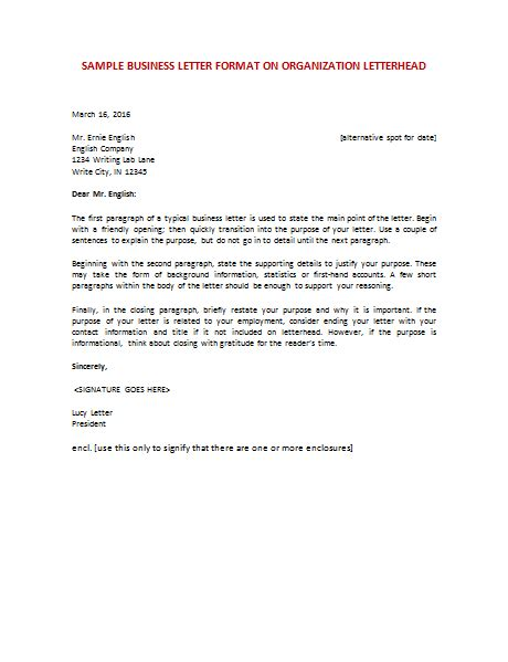 Business Letter Ideas Ideas Of Format Formal Business Letter Sle In Description Shishita World