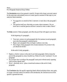 Analytical Essay Outline Template by 26 Exles Of Essay Outlines
