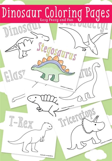 easy peasy coloring pages dinosaur coloring pages easy peasy and fun