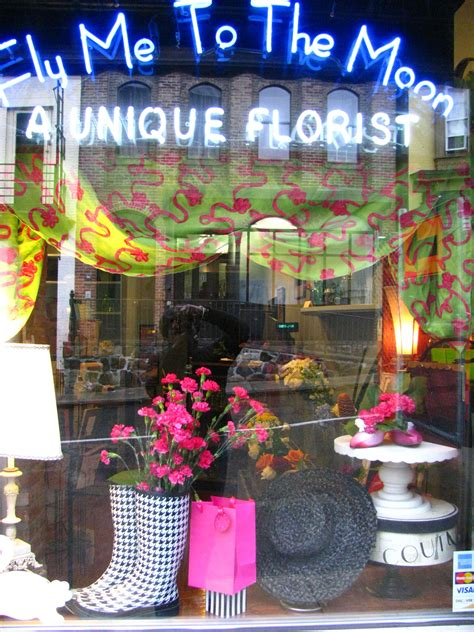 s day flower shop s day window of fly me to the moon florists