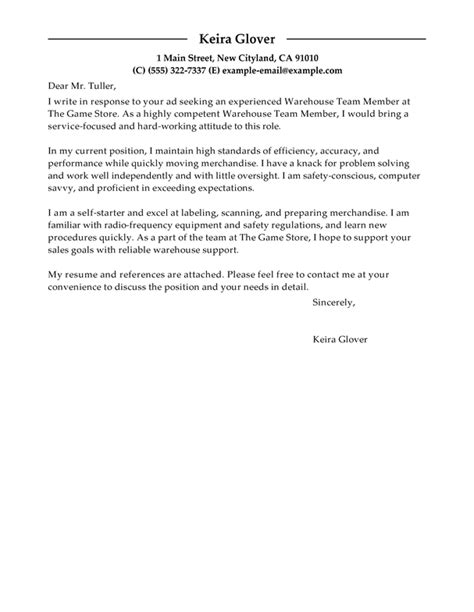 production team members cover letter examples