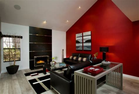 red accent wall in living room top color trends for fall 2013