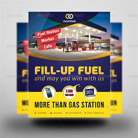 Gas Station Flyer Template By Owpictures Graphicriver Gas Station Website Template