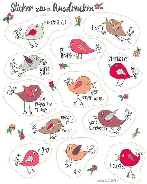 Aufkleber Selber Drucken Kostenlos by Alessas Sticker Zum Ausdrucken F 252 R Filofax Kalender