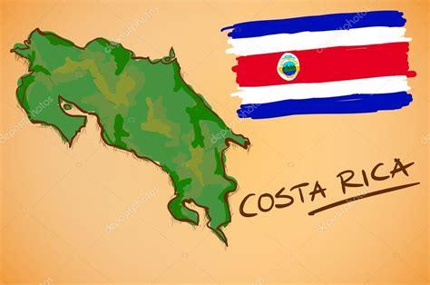 imagenes satelitales costa rica mapa de costa rica y el vector de la bandera nacional