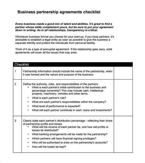 sle business partnership agreement 9 documents in