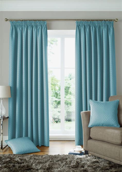 duck egg blue curtains lined woven jacquard squares duck egg blue lined pencil pleat