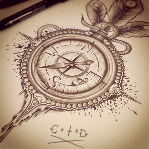 vintage compass tattoo best 25 vintage compass ideas on