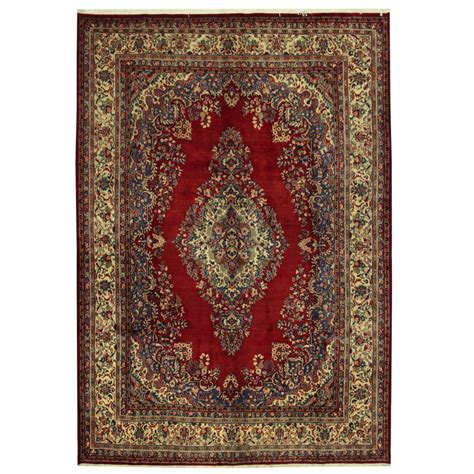 Knotted Rugs by Knotted Hamadan Wool Rug 9 X 12 10 Herat