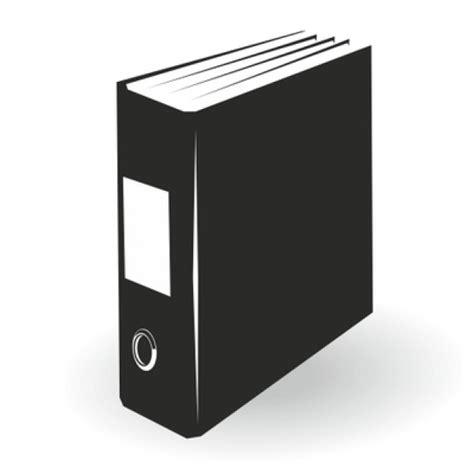 Black File Folder Illustration Vector Free Download