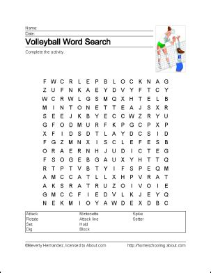printable volleyball worksheets learn about volleyball with free volleyball printables