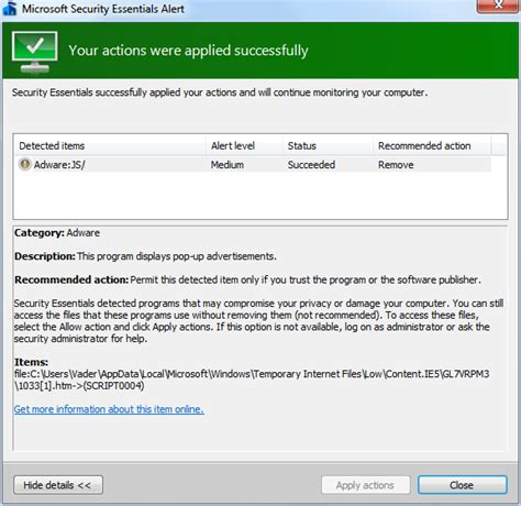microsoft microsoft security advisory update for microsoft security essentials alert provides online free