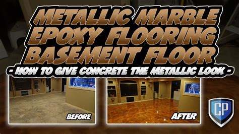 Metallic Marble Epoxy Flooring Basement Floor   How To