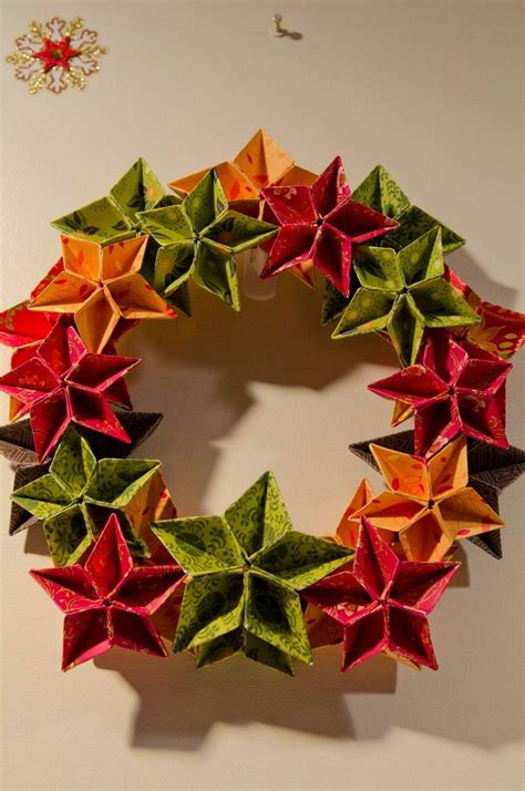 origami tutorial wreath origami wreath ornament