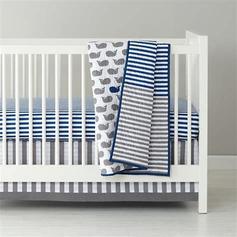 Striped Crib Bedding Baby Bedding Blue Stripe Crib Fitted Sheet The Land Of Nod