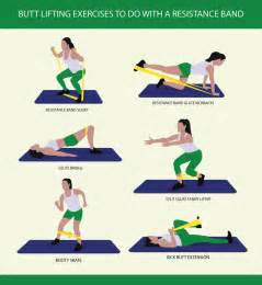 Butt lifting exercises to do with a resistance band fitness