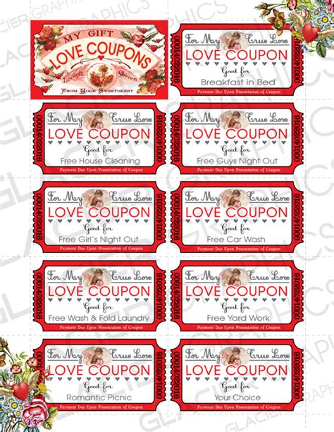 coupons for him template coupons business card template