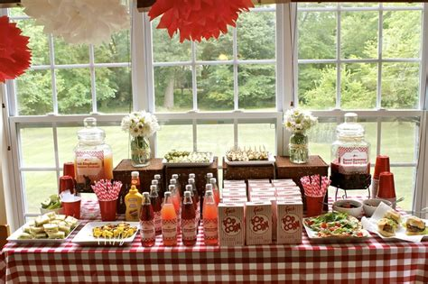 Country Wedding Shower Ideas bridal shower country theme table layout s open