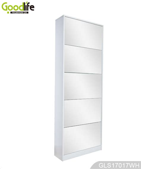 full size mirror cabinet wooden shoe cabinet with full length mirror