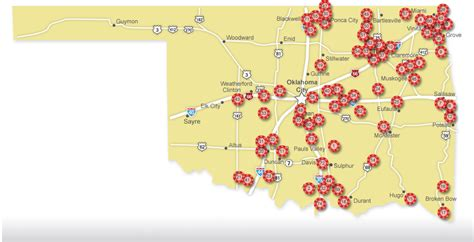 Of Oklahoma Search Map Of Casinos In Oklahoma Search Results Calendar 2015