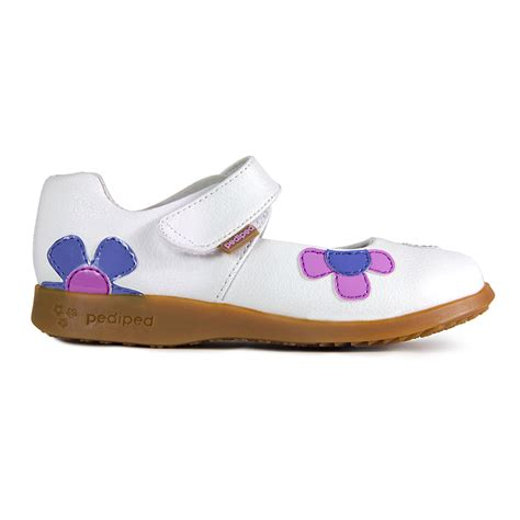 pediped baby shoes flex 174 abigail white lavender pediped footwear