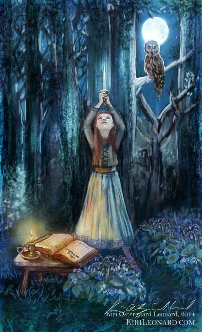 the green witch tarot illustration news from kiri 216 stergaard leonard the green witch tarot tarot girls
