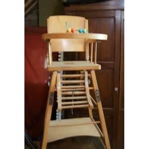 chaise haute en bois b 233 b 233 pas cher priceminister rakuten